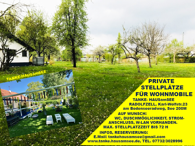 Stellplatz Radolfzell am Bodensee Wiese nähe See